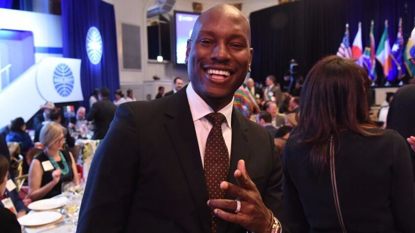 After a quick outfit change at Barneys New York, Tyrese Gibson shows his dapper side at the April 29