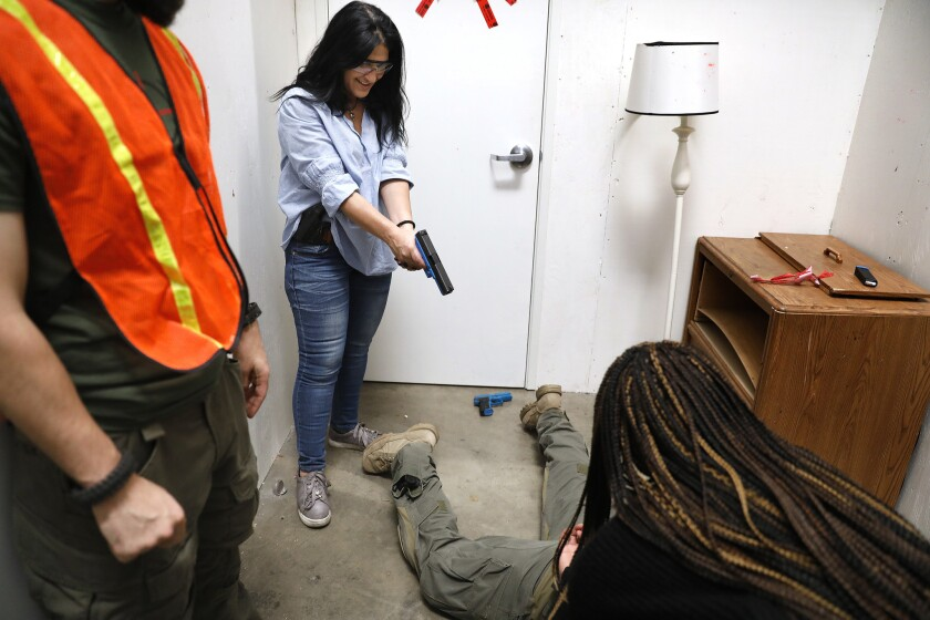 PARAMOUNT-CA-OCTOBER 27, 2018: Homeland Security Investigations Citizens Academy participants Louise