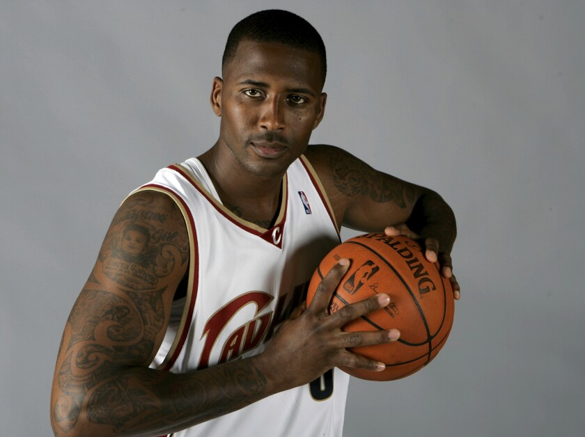 Cleveland Cavaliers' Lorenzen Wright poses at the team's NBA basketball media day IN 2008