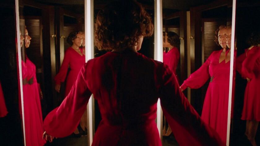 "Marianne Jean Baptiste as Sheila in the film ""In Fabric."""