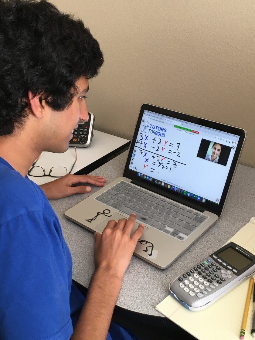 Raj Pabari, 15, of Carlsbad has launched an online tutoring service for quarantined high school students like himself.
