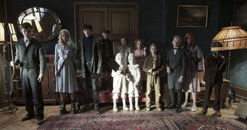 "The residents of ""Miss Peregrine's Home for Peculiar Children."""