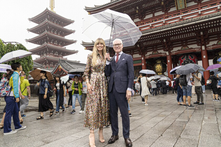 """Heidi Klum and Tim Gunn whisk the designers off to Tokyo on this week's episodes of """"Making the Cut."""""""
