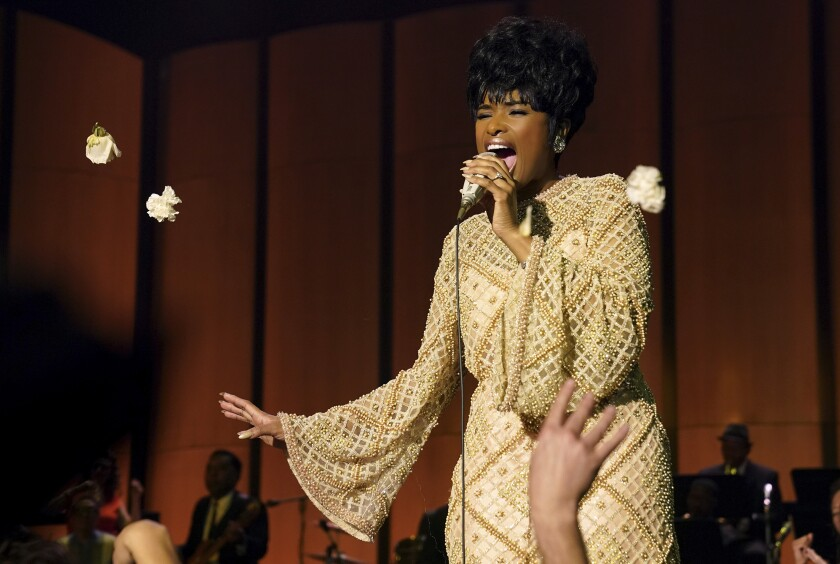 """This image released by MGM shows Jennifer Hudson as Aretha Franklin in a scene from """"Respect."""" (Quantrell D. Colbert/MGM via AP)"""