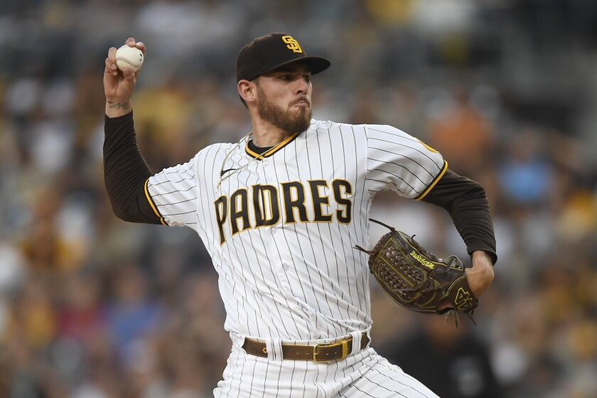 Joe Musgrove pitches against the Colorado Rockies