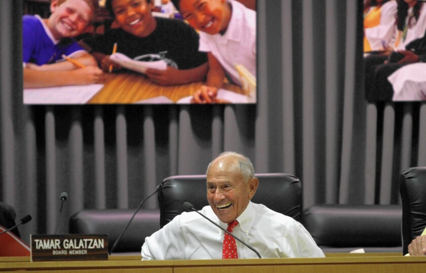 Interim Los Angeles schools Supt. Ramon Cortines, shown at an October board meeting, knows that business-as-usual in the nation's second-largest school district isn't good enough anymore.