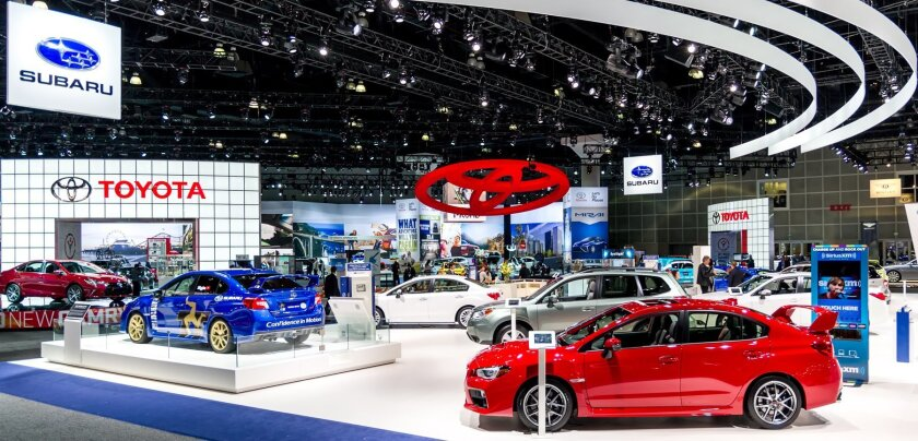Toyota & Subaru exhibits