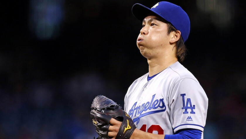 Dodgers starter Kenta Maeda against the Diamondbacks on Tuesday.