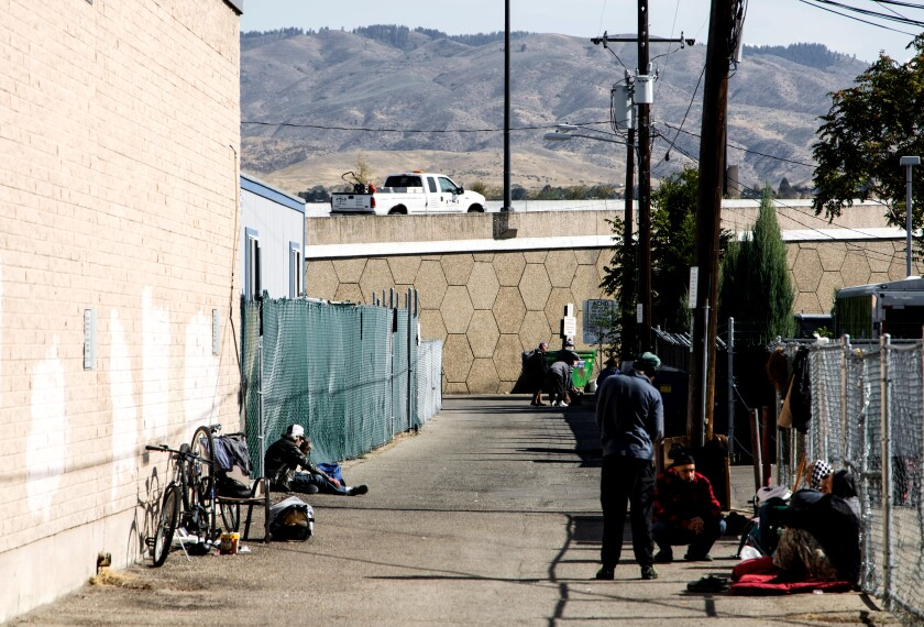 Cooper Street in Boise is the former site of a homeless encampment.