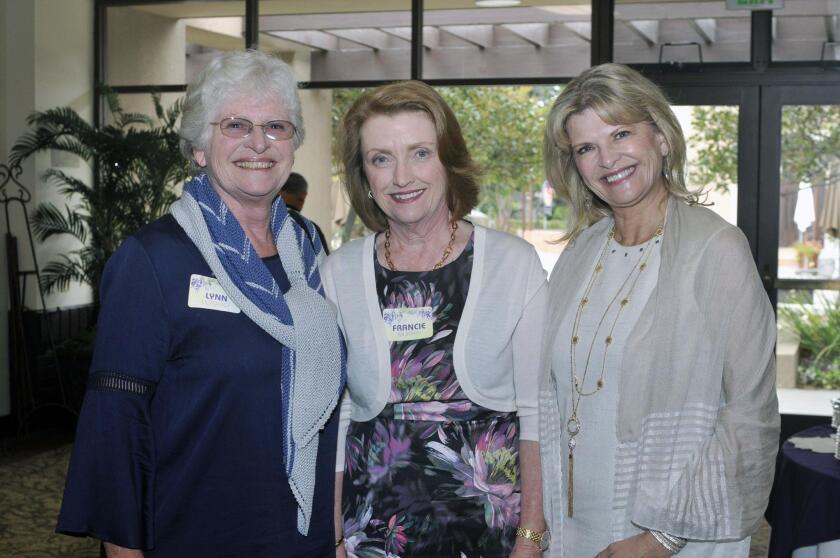 Lynn Lilyquist, Francie Murphy, event chair Robin Singer
