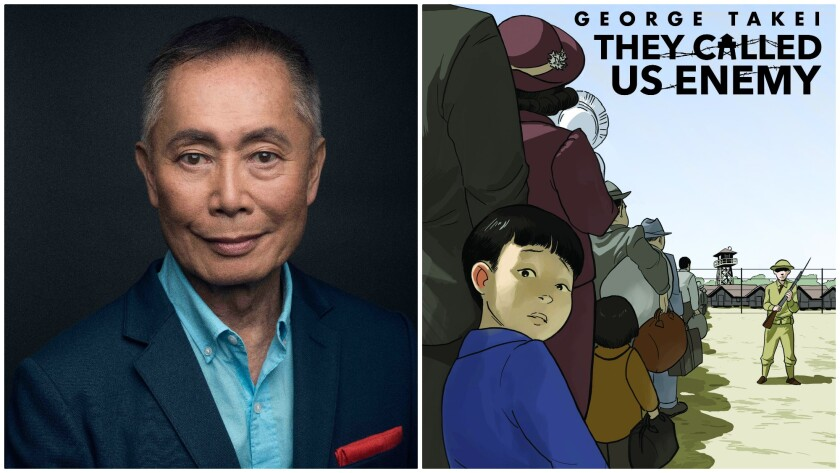 "Author George Takei and his book, ""They Called Us Enemy."""