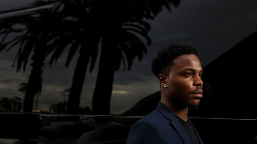 Jeremiah Thomas during a visit to Culver City in October.