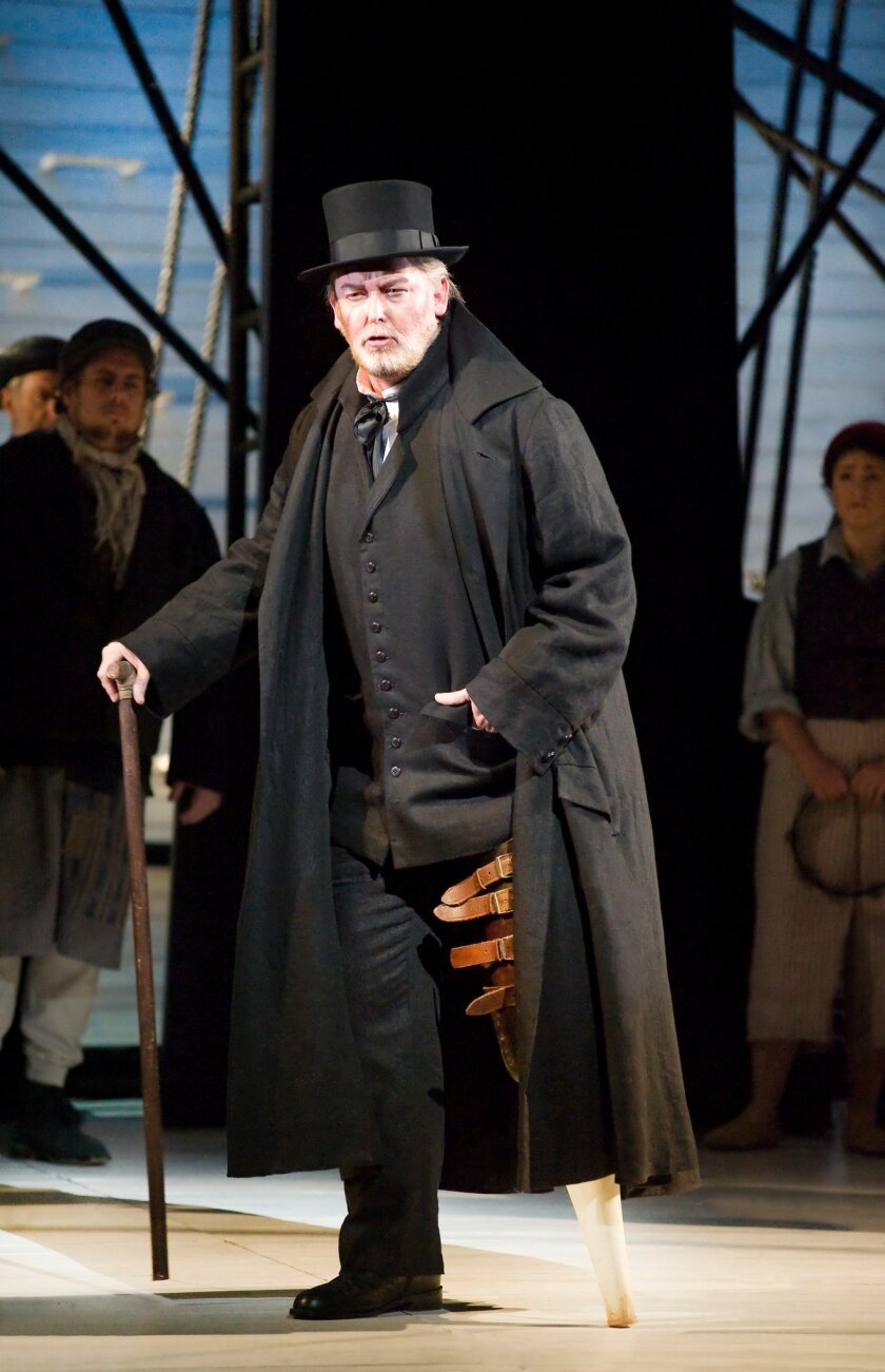 """Jay Hunter Morris, as Captain Ahab, in the State Opera of South Australia production of """"Moby-Dick."""" Morris has taken over the role from an ill Ben Happner in San Diego. Photo copyright Photografeo, 2011."""