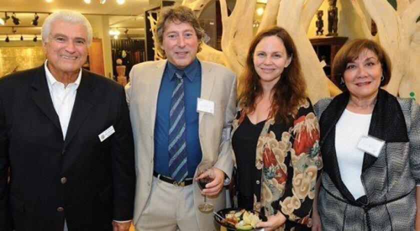Joe Kellejian, artistic director David Ellenstein, Denise Young, Mary Kellejian (Photo: Jon Clark)