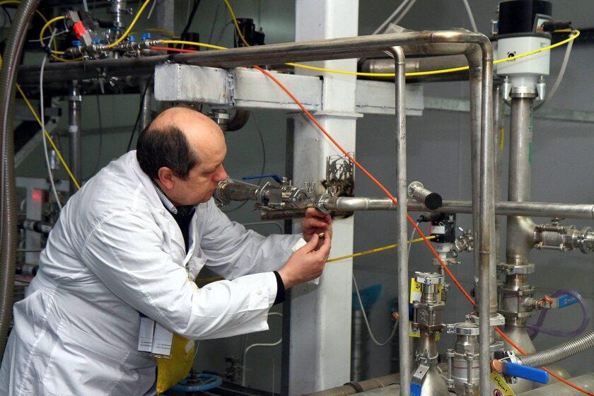IAEA team checks the enrichment process at the Natanz plant