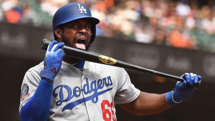 Yasiel Puig actualmente es figuras de los Dodgers de Los Ángeles.