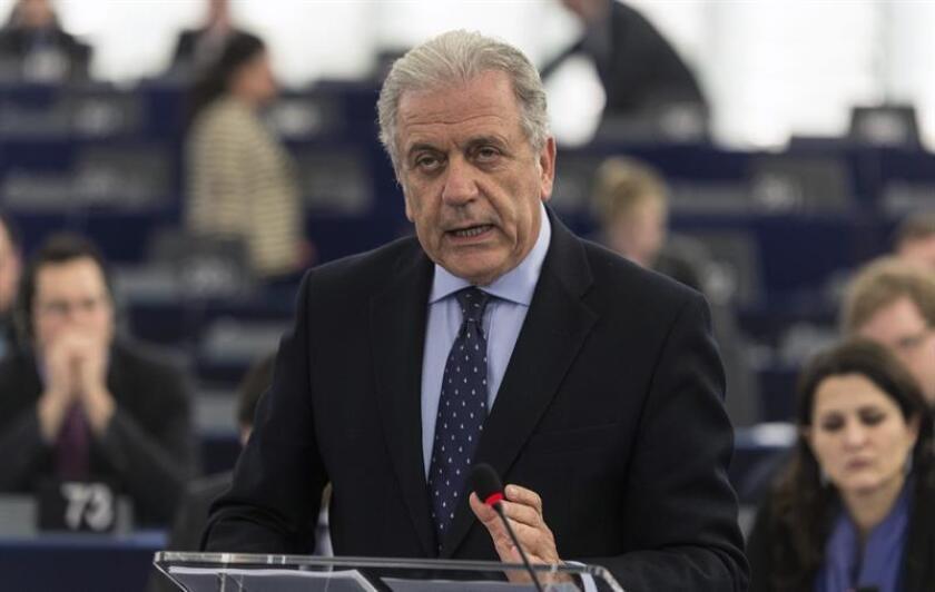 El comisario europeo de Inmigración, el griego Dimitris Avramopoulos. EFE/Archivo