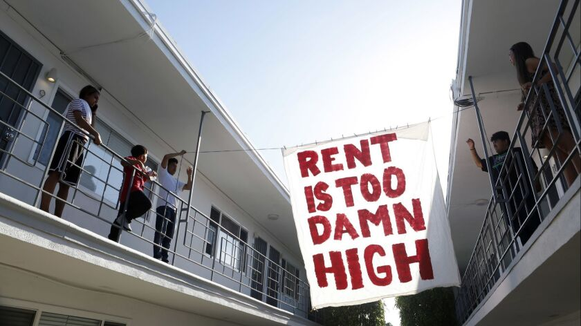 LONG BEACH, CA- June 15, 2018: Organizers with Housing Long Beach, a local advocacy group pushing fo