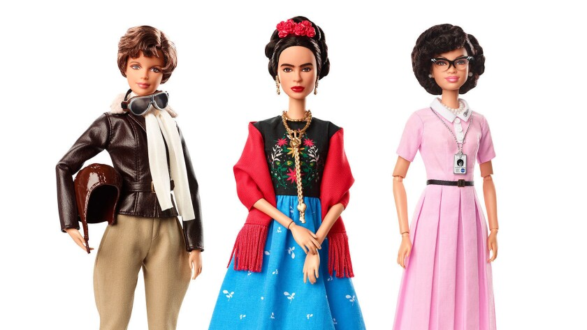 CORRECTS SPELLING OF KAHLO - This product image released by Barbie shows dolls in the image of pilot