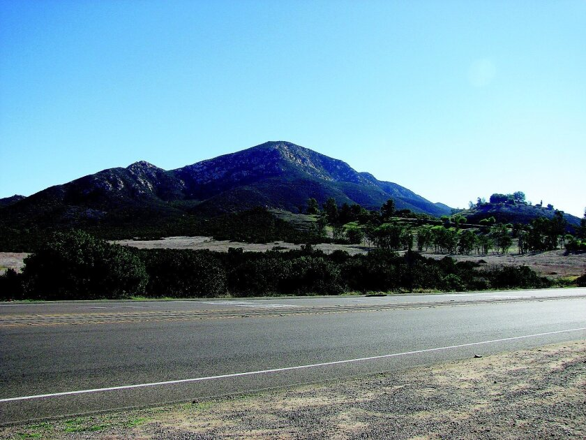 A view of Poway's Iron Mountain, as seen from a distance.  j. harry jones • u-t