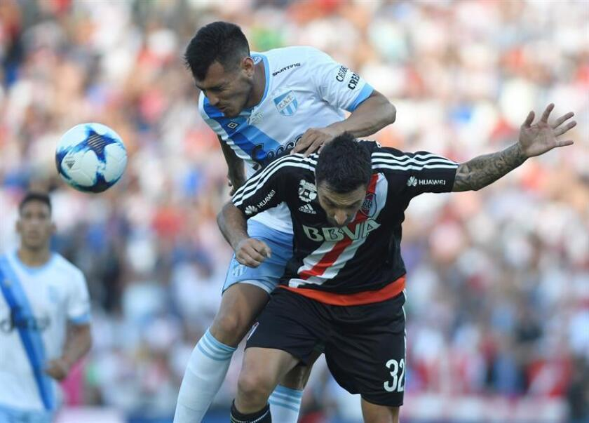 MENDOZA (ARGENTINA), photo taken on Dec. 9, 2017:River Plate said Wednesday that forward Ignacio Scocco, who was expected to be a starter, has suffered a leg injury and will miss the second leg of the Copa Libertadores final against bitter rival Boca Juniors. EPA/EFE/Andres Larrovere/FILE