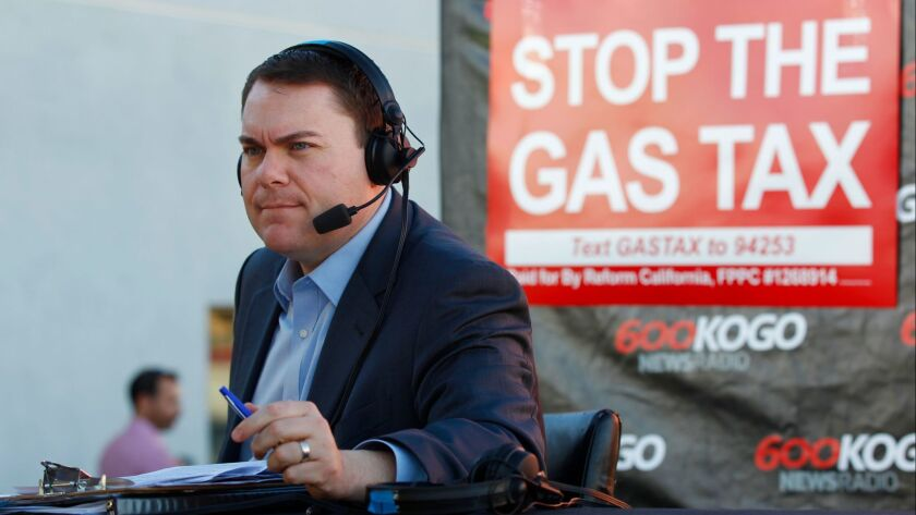 Radio host Carl DeMaio heads up a signature drive for the citizen's ballot initiative to repeal an increase in the state gas tax.