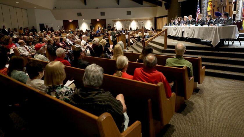 PORTER RANCH, CALIF. -- SUNDAY, APRIL 14, 2019: Council District 12 Candidate Forum at Temple Ahavat
