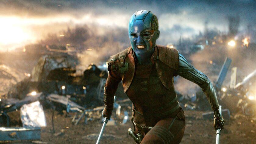"""Nebula (Karen Gillan) in a scene from """"Avengers: Endgame."""" Credit: Film Frame/Marvel Studios"""