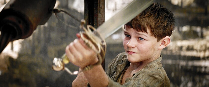 """Levi Miller, a newcomer from Australia, stars as Peter Pan in """"Pan."""""""