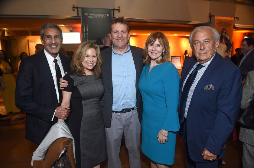 "William Small, Geffen Playhouse Advisory Board Member Debra Davis, Executive Director Gil Cates Jr., Board Chair Emeritus Martha Henderson and ""Key Largo"" producer and Board Chair Emeritus Frank Mancuso."