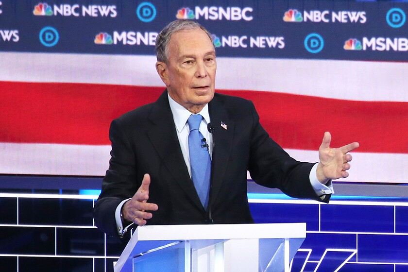 Michael Bloomberg at the Democratic presidential candidates debate in Las Vegas.