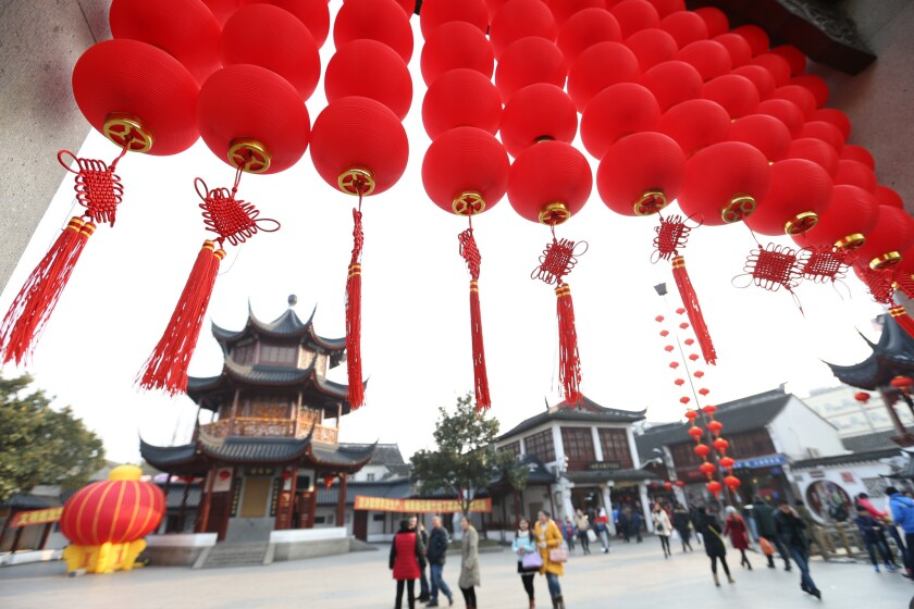 Chinese People Prepare For The Upcoming Spring Festival