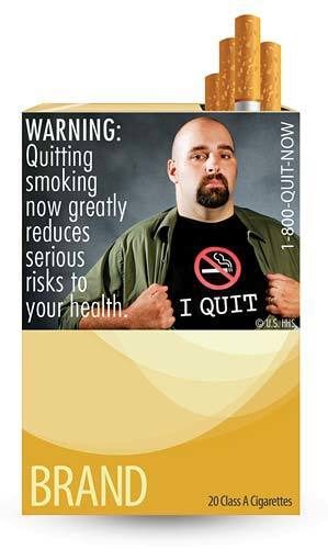 One of nine new warning labels cigarette makers will have to use by the fall of 2012.