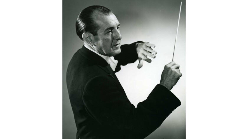 A portrait of conductor Alfred Wallenstein.