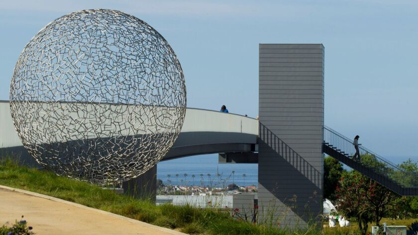 The city of Newport Beach is presented with a sculpture, Sphere 112, by the Newport Beach Arts Found