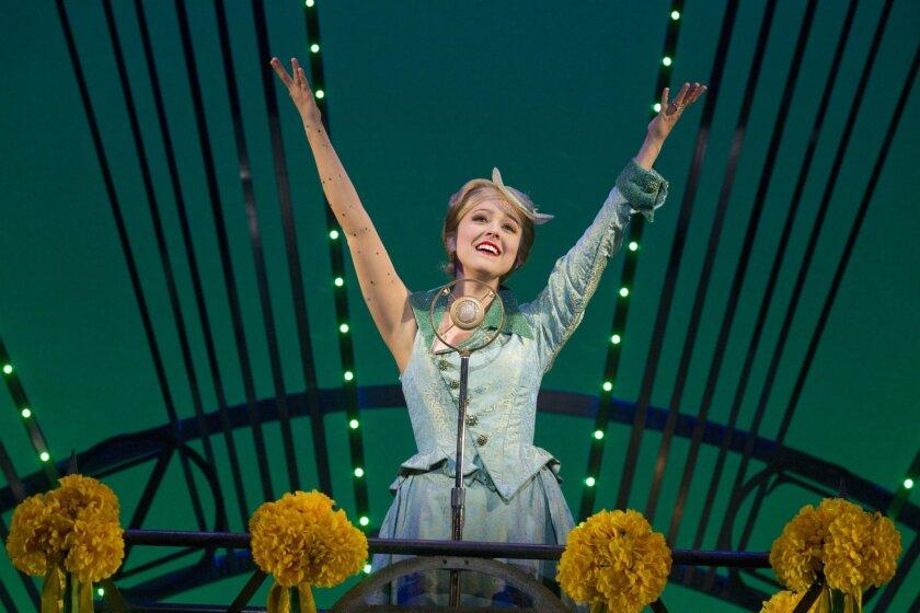 """Alli Mauzey as Glinda in """"Wicked."""""""