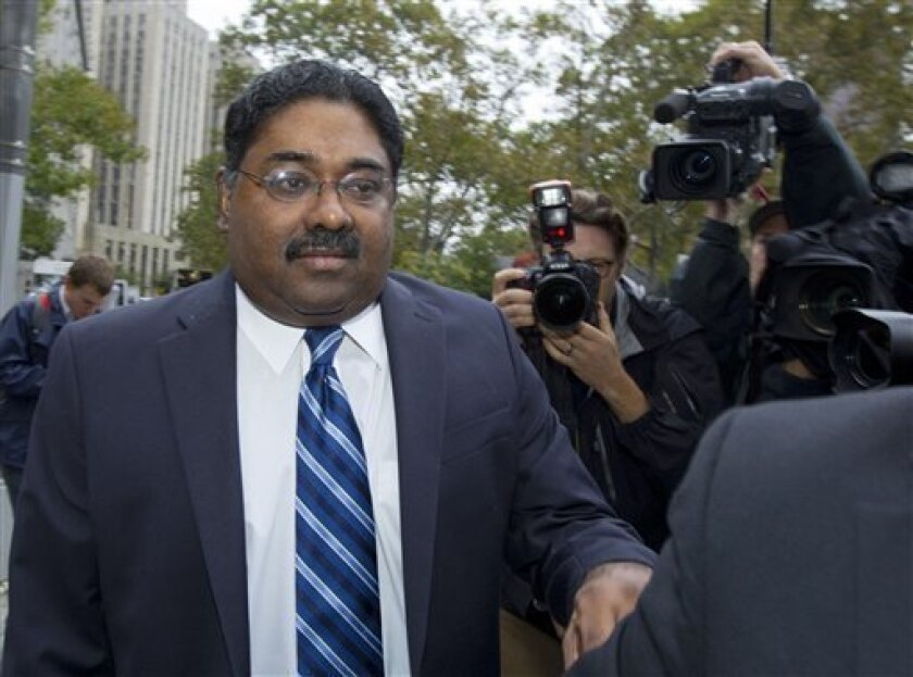 Raj Rajaratnam, co-founder of Galleon Group LLC, arrives at Federal Court for sentencing on Thursday, Oct. 13, 2011 in New York. (AP Photo/Jin Lee)