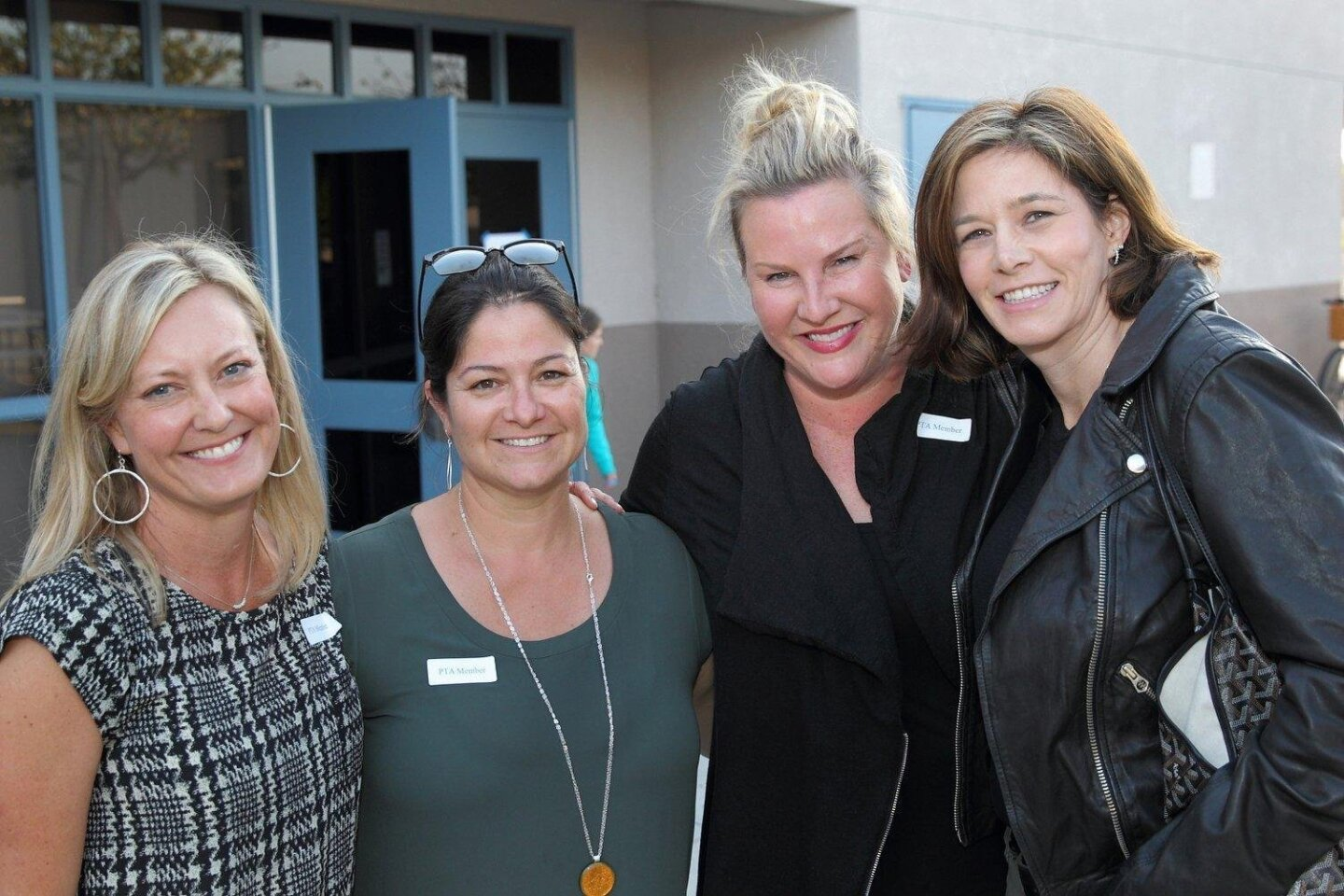 PTA President Lesley Ballard, PTA VP for Programs Einat Lerer, Margaret Bellowe, Kimberly Twomey