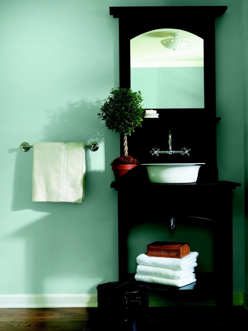 Watery blue paints are on trend for 2012.