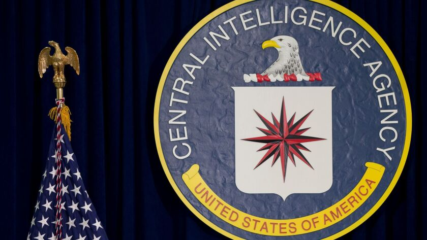 The CIA seal at agency headquarters in Langley, Va.