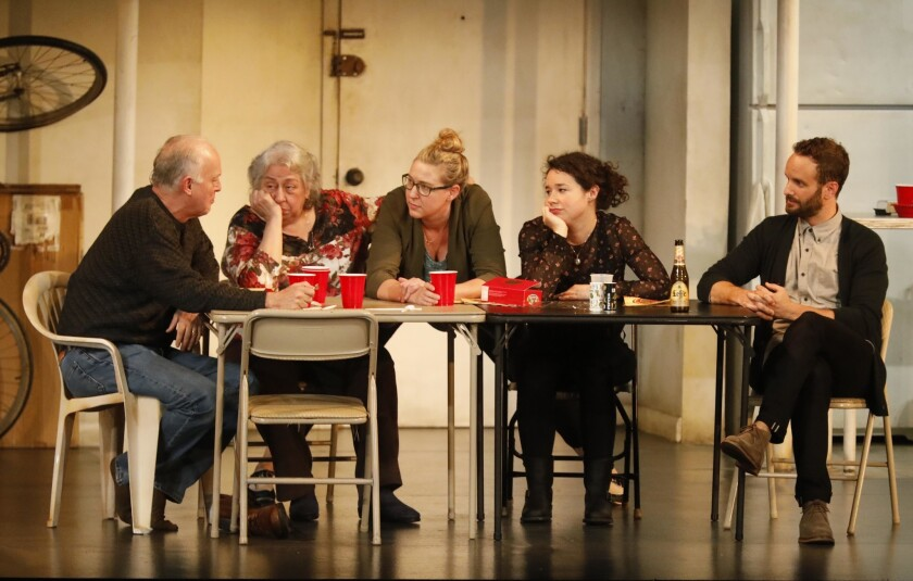 """Cassie Beck (center) in the 2018 L.A. production of """"The Humans."""""""