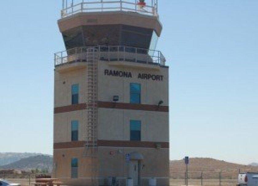 Ramona Airport control tower. Sentinel file photo