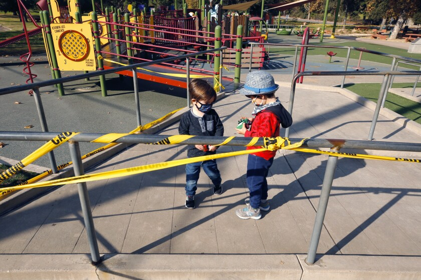 California Playgrounds To Stay Open Amid Covid Restrictions Los Angeles Times