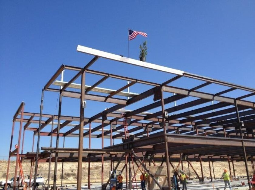 File photo of school construction site. The Vista Unified School Board voted Thursday to negotiate a contract that would commit the district to use local, unionized labor for construction projects under its new, $247 million school bond measure.