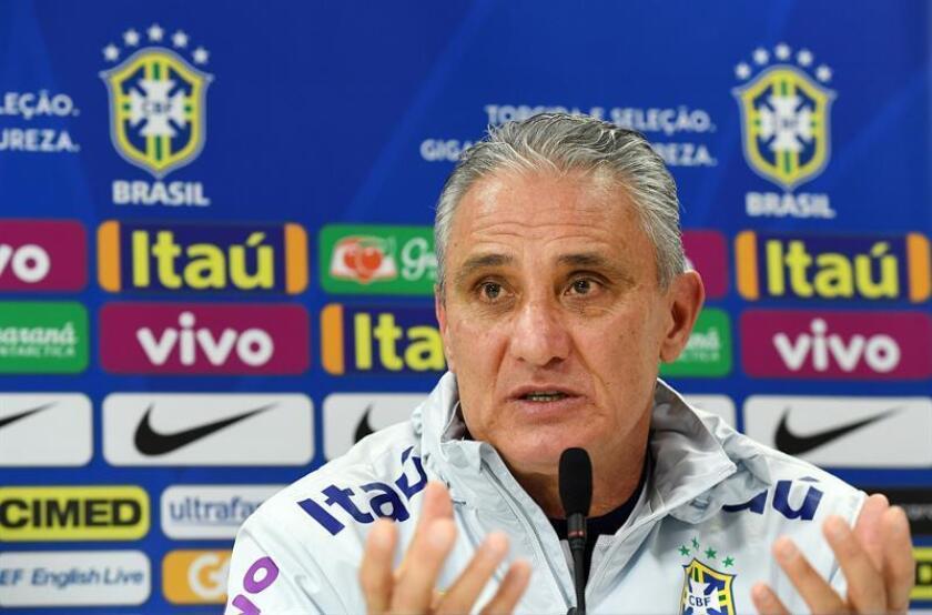 En la imagen un registro del seleccionador del equipo nacional de fútbol de Brasil, Adenor Leonardo Bacchi 'Tite'. EFE/Archivo