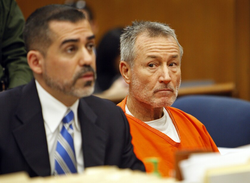 Mark Berndt, right, a former South Los Angeles-area elementary school teacher, pleaded guilty to lewd conduct. Evidence gathered against him is now the subject of a court battle in litigation against L.A. Unified.