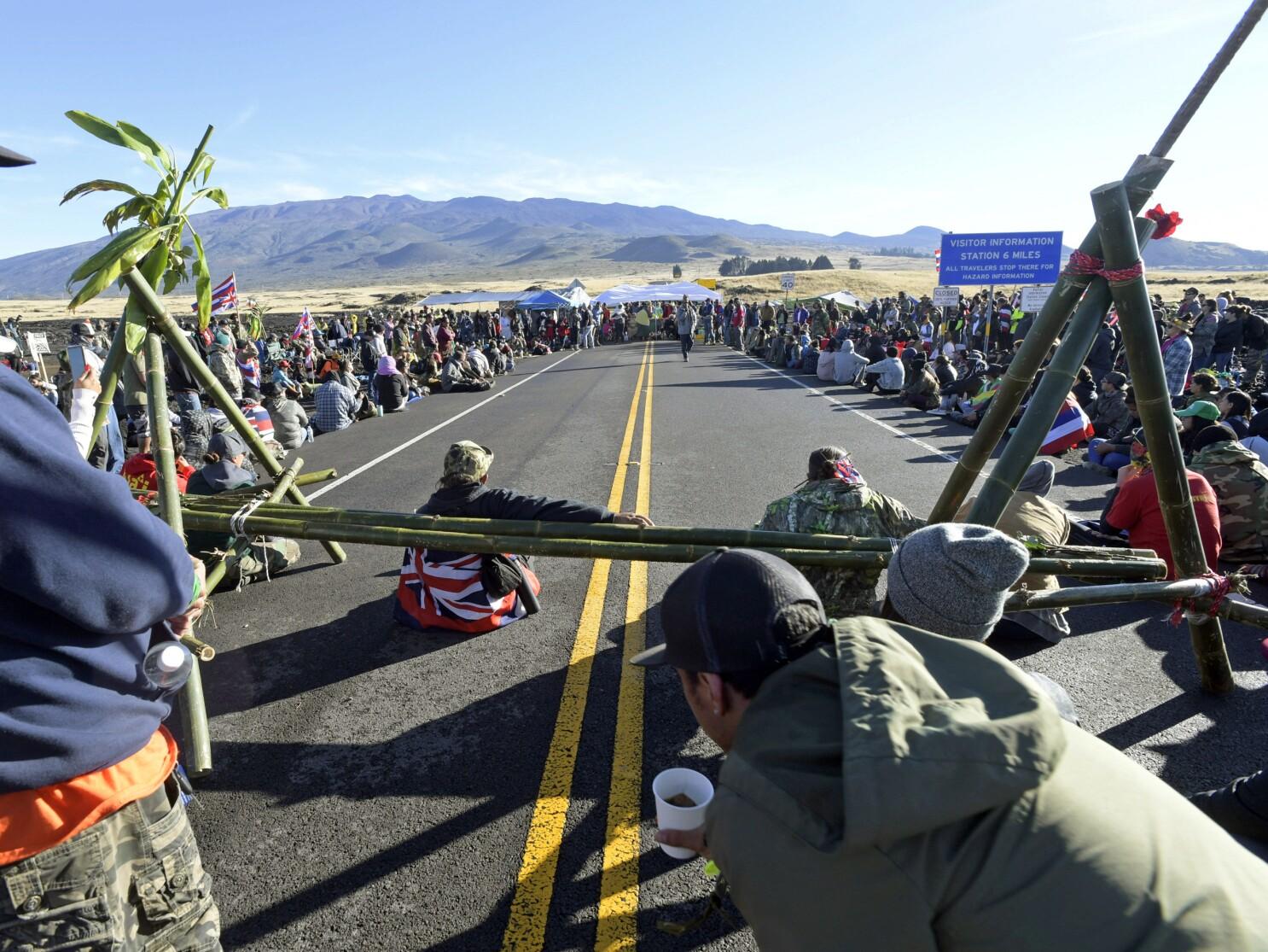 Native Hawaiians protest plans for a massive telescope