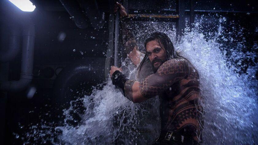 """Jason Momoa as Aquaman in """"Aquaman."""""""