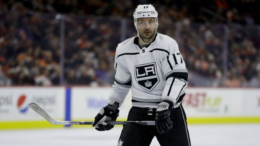Los Angeles Kings' Ilya Kovalchuk in action during an NHL hockey game against the Philadelphia Flyer