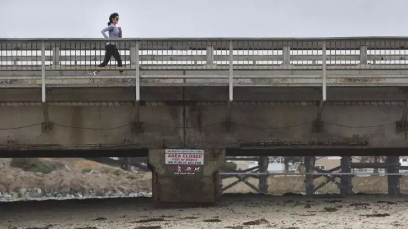 The Camino Del Mar Bridge crosses the San Dieguito River.